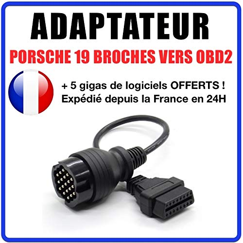 MISTER DIAGNOSTIC Kabel OBD2 auf 19 Pins kompatibel Porsche für Durametric