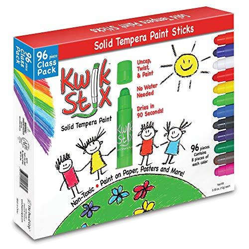 TPG696 - The Pencil Grip Kwik Stix 96-Piece Tempera Paint Sticks
