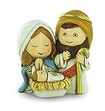 Ferrari & Arrighetti Belén Infantil con José, María y el Niño Jesús para un Nacimiento de 4 cm (Paquete de 3 Piezas)