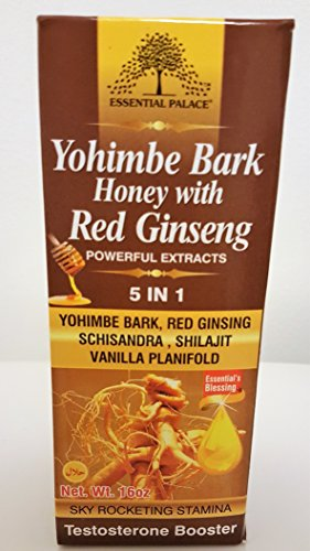 Yohimbe Bark Honey With Red Ginseng-Powerful Extract 5 in 1