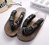 Flip Flop Getaanimeanime cosplay costumes costumes japonais getha sandales sandales d'été hommes chaussures en bois plat sabots pantoufles flip-flops-6_43 Pantoufles en bois ( Color : 5 , Size : 45 )