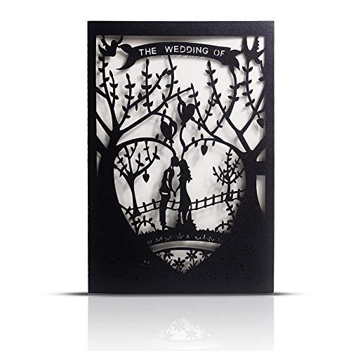 Laser Cut Printable Wedding Invitation Kits - 25pcs 4.7