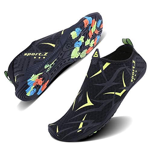 WXDZ Men Women Swim Shoes Quick Dry Barefoot Aqua Water Socks for Water Park Yoga Running Outdoor...