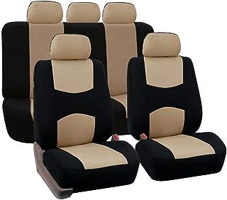 Auto Sitzbezüge Set Universal Auto Schonbezüge, Komplettset, Vordersitze Und Rückbank Auto Zubehör Innenraum,9 teilig