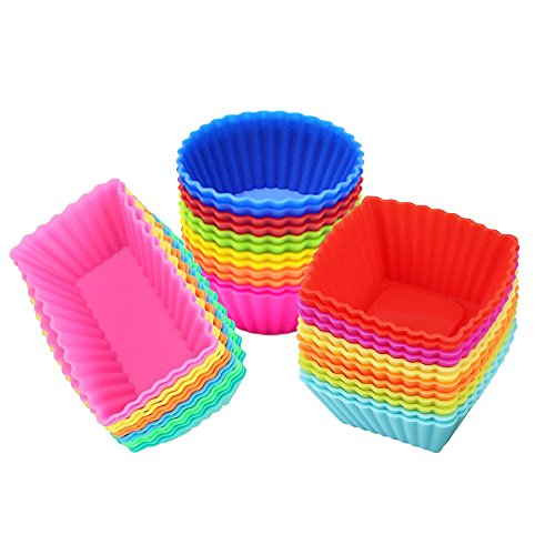IELEK Silicone Cupcake Liners Baking Cups