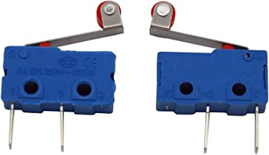 Taiss 100 x Roller Lever Arm PCB Terminals Micro Limit Switch Normal Open Switch KW12-3 NO Switches 5A Long life 2 million life