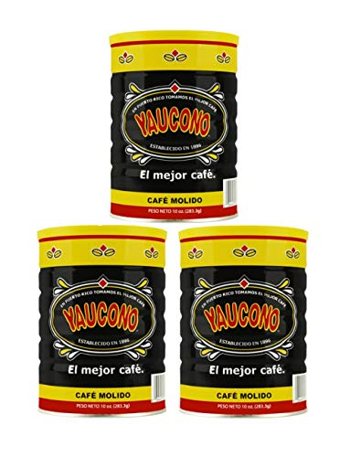 Yaucono Ground Coffee Canister, 10 Ounce (Pack of 3)
