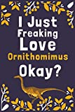 "I Just Freaking Love Ornithomimus Okay?: (Diary, Notebook) (Journals) or Personal Use for Men, Women and Kids Cute Gift For Ornithomimus Lovers. 6"" x 9"" (15.24 x 22.86 cm) - 120 Pages"