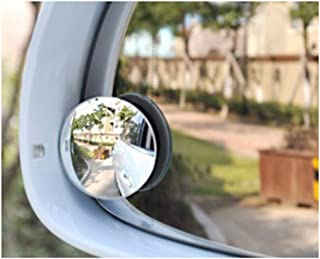Blind Spot Mirrors for Cars,Round Frameless 360° Rotate Sway Adjustable HD Glass Waterproof Convex Mirror Maximize Rearview Universal for Car