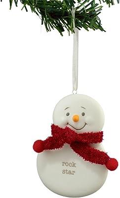 Department 56 Snowpinions Rock Star Snowman Hanging Ornament