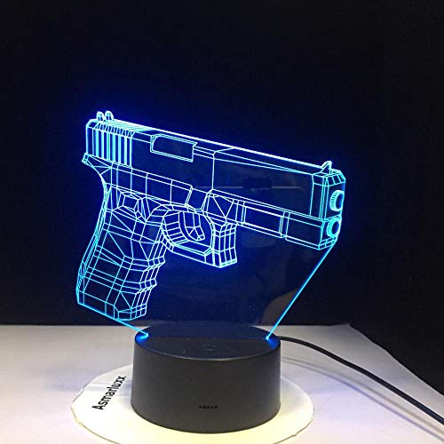 WxzXyubo Regalo de vacaciones del juguete de los niños de la pistola LED de la luz de la noche 3D