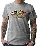 HARIZ  Pixbros Collection Herren T-Shirt Grau Designs Wählbar Deutschland Trikot WM EM Fahne Inkl Urkunde Bang Sticks Pixbros16: Schlandbros S