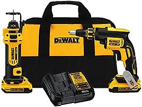 DEWALT 20V MAX XR Drywall Screw Gun & Cut-out Tool Combo Kit (DCK263D2)