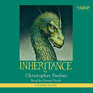 Inheritance     The Inheritance Cycle, Book 4              Written by:                                                                                                                                 Christopher Paolini                               Narrated by:                                                                                                                                 Gerard Doyle                      Length: 31 hrs and 17 mins     96 ratings     Overall 4.8