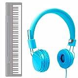 DURAGADGET Auriculares De Diadema En Azul para Teclado/Piano...