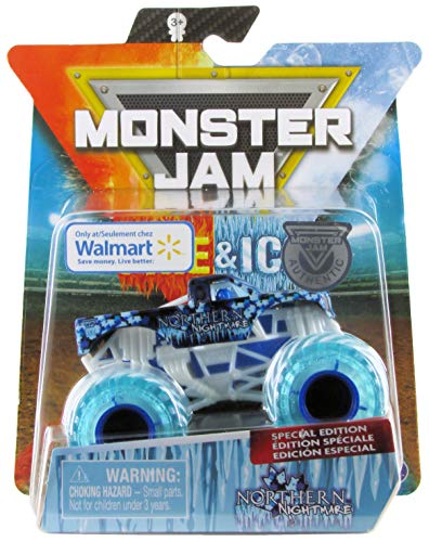 Monster Jam, Fire & Ice Northern Nightmare Monster Truck, Die-Cast Vehicle, Walmart Exclusive, 1:64 Scale