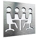 Aluminium Conference Room door sign - Sign for business - Office wall art plaque - Señal de puerta...