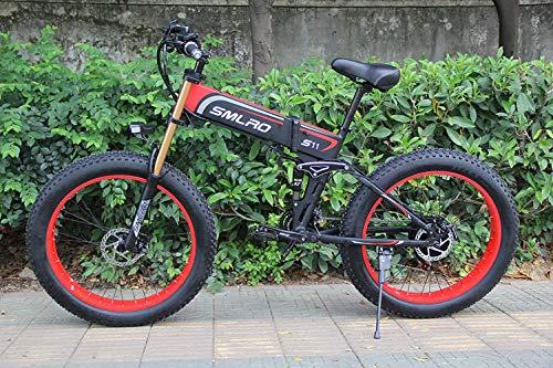 CJH Bicicleta, Bicicleta, Bicicleta Eléctrica, Bicicleta Híbrida Eléctrica de 1000 W Bicicleta...