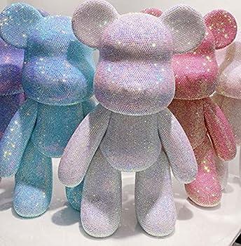 DIY Popobe Bear-Crystal Rhinestones Full Rhinestone Painting  no Glue  Colorful Rhinestone 3D Bear Set Diamond Painting Handmade Adult Children s Gifts Room Crystal Ornaments  9.1inx2.95in