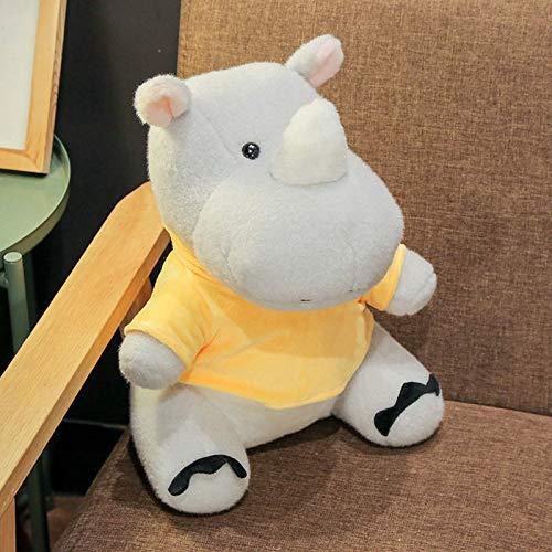 N / A Súper Suave Rinoceronte e hipopótamo Juguete de Peluche Lindo Animal de Dibujos Animados muñeca de Peluche sofá en casa Almohada cojín niño Novia Regalo de cumpleaños de Navidad 30 cm