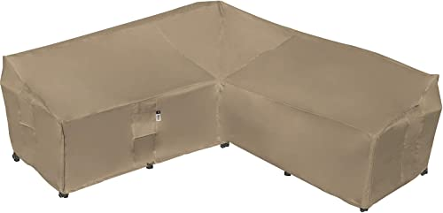 Heavy Duty Outdoor Sectional Sofa Cover, 100% Waterproof 600D Patio Sectional Couch Cover, Lawn Patio Furniture Cover...