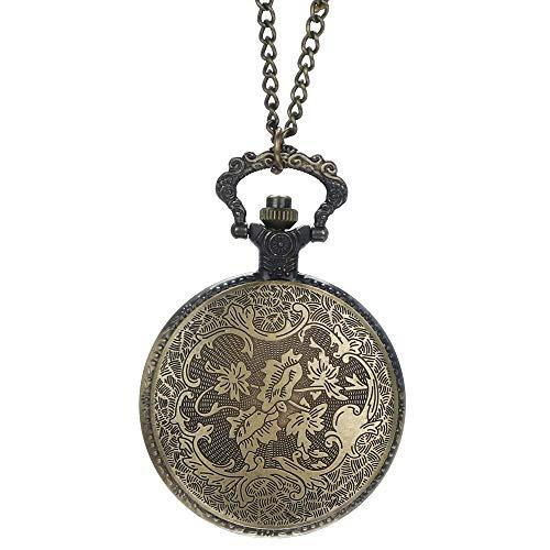 Best Deals! Muranba 2019 ! Vintage Flower Pocket Watch Quartz Necklace Chain Men Women for Girls Gif...