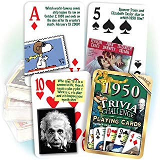 Flickback Media, Inc. 1950 Trivia Playing Cards: Great Birthday Gift or Anniversary Gift