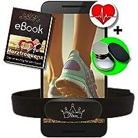 Fitness Prince © Heartbeat Ant Frecuencia cardíaca dual + Bluetooth Energía baja en tiempo real + Ebook gratuito - Compatible con Garmin Wahoo Polar Straunt RUNTASTIC ENDOMONDO Correa para el pecho del iPhone Tomtom