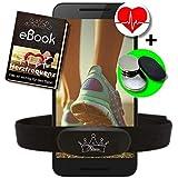 Fitness Prince  Heartbeat Ant Frecuencia cardíaca dual + Bluetooth Energía baja en tiempo real + Ebook gratuito - Compatible con Garmin Wahoo Polar Straunt RUNTASTIC ENDOMONDO Correa para el pecho del iPhone Tomtom