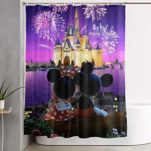 Meirdre Stilvoller Duschvorhang Minnie & Micky Maus Bedruckt, wasserfest, 152,4 x 182,9 cm