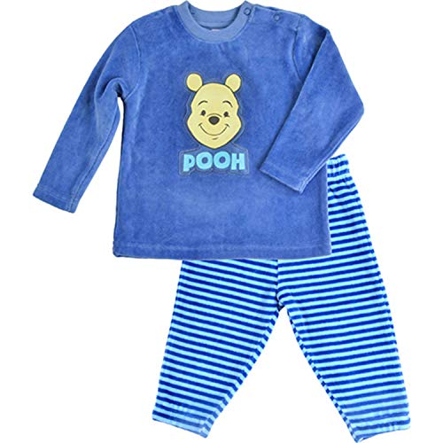 Disney Winnie Puh Pyjama Schlafanzug Pooh, blau (74/80)
