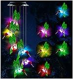 EONAZE Solarleuchten Windspiele Lichterketten, Beweglich Solar LED Windspiele Beleuchtung, wasserdichte Outdoor Solar Lichter für Home Yard Patio Garten (Grün Kolibri)