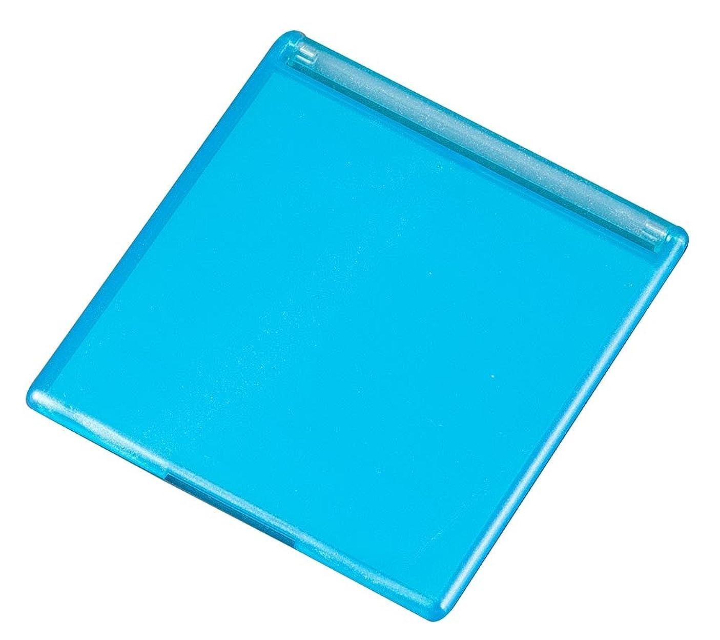 角型コンパクトミラー M ブルー YLA-501