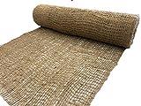 AK-Trading Jute Erosion Control, Soil Saver Mesh Blanket - 48' Wide x 75 Yards Roll (225 feet Long) - 900 Sq. Ft. Coverage
