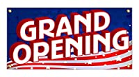 Grand Opening Banner Sign - US Flag Colors (5FT x 10FT)
