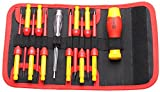 BOOHER 0200103 12-Piece 1000V Insulated Changeable Screwdriver Set