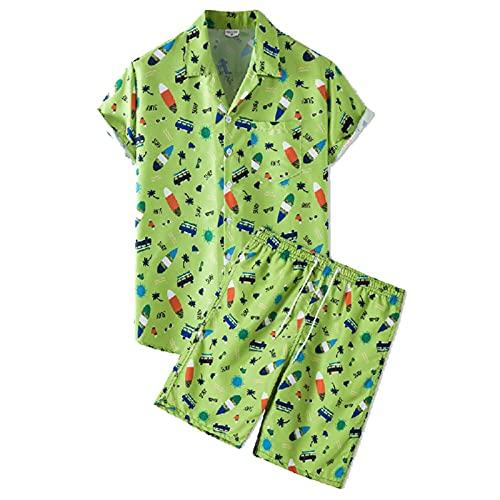 SSBZYES Camisa para Hombre Camisa De Verano De Manga Corta Camisa De Talla Grande para Hombre Camisa De Manga Corta Pantalones Cortos para Hombre Pantalones De Playa Finos De Manga Corta Traje