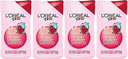 L'Oreal Paris Kids Extra Gentle 2 en 1 Very Berry Strawberry Champú, 250 ml
