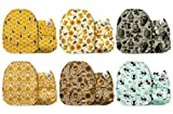 Mama Koala One Size Baby Washable Reusable Pocket Cloth Diapers, 6 Pack with 6 One Size Microfiber Inserts (Busy Bees) cloth diaper inserts Jan, 2021