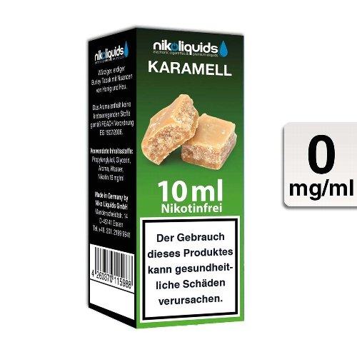 E-Liquid NIKOLIQUIDS Karamell 0 mg