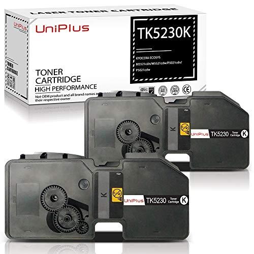 UniPlus TK-5230 Cartucho de Tóner Compatible Kyocera TK5230 TK-5230 para Kyocera ECOSYS P5021cdn P5021cdw M5521cdn M5521cdw (2 Negro, 2600 Páginas)