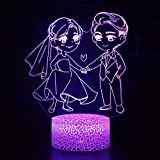 Maravillosa pareja de la mano para casarse luz de noche led luz de interruptor táctil luz de decoración de habitación multicolor luz de noche de bebé para niños
