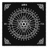 K-Park Mantel de altar Tarot Triquetra Pagan Wheel Of The Year Tarot Mantel altar Tarot de franela Tarot Tarjetas Mantel Runa adivinación Astrología Juego de mesa Bordado Artesanías positivas