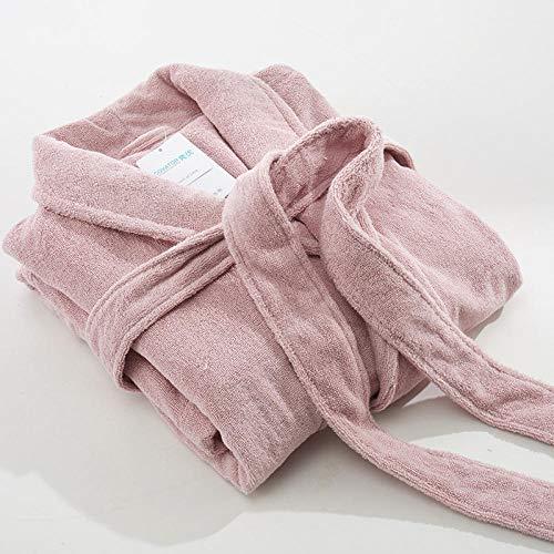 Poouog badjas van katoen, eenkleurig, voor hotel van stof, handdoek, nachthemd, kersenpoeder