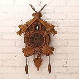 NZDY Reloj de pared vintage, cuco moda ciervo cabeza de ciervo...