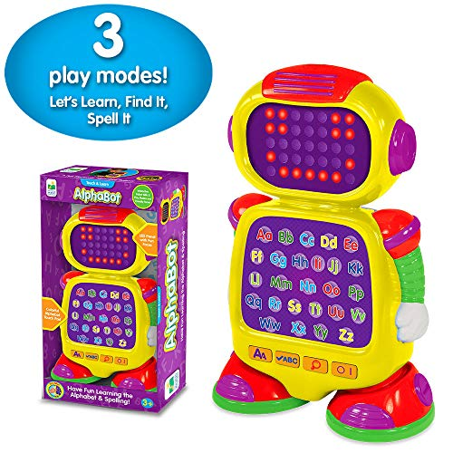 The Learning Journey Touch & Learn – AlphaBot – Interactive Alphabet, Spelling, & Phonics Robot Toy with LED Face and Three Quiz Modes – Preschool Toys & Gifts for Boys & Girls Ages 3 and Up