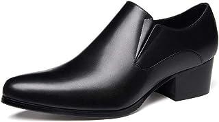FIESSO Zapatos Formales de Las Empresas británicas for Hombres Oxford Premium Genuino Deslizamiento de Cuero con Cremaller...