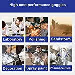 FAREVER Safety Glasses, Protective Safety Goggles Eyewear with Wide-Vision Anti Fog Scratch UV Clear, Soft, Adjustable, Lightweight for Work Medical Construction Nurse Women Men, 1 Pack Use Cases