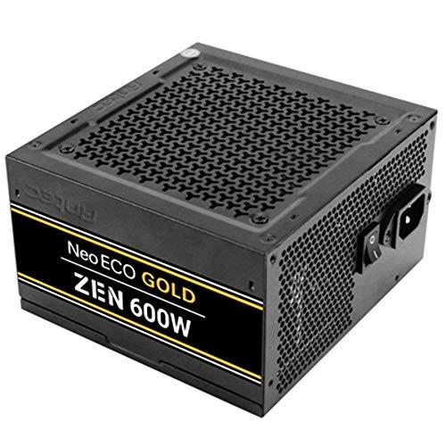 Antec NeoECO Gold ZEN PSU de 600 W totalmente cableado, diseño LLC 80+ Gold Cont Power Plug UK