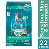 Purina ONE Sensitive Stomach, Sensitive Skin, Natural Dry Cat Food, Sensitive Skin & Stomach Formula - 22 lb. Bag